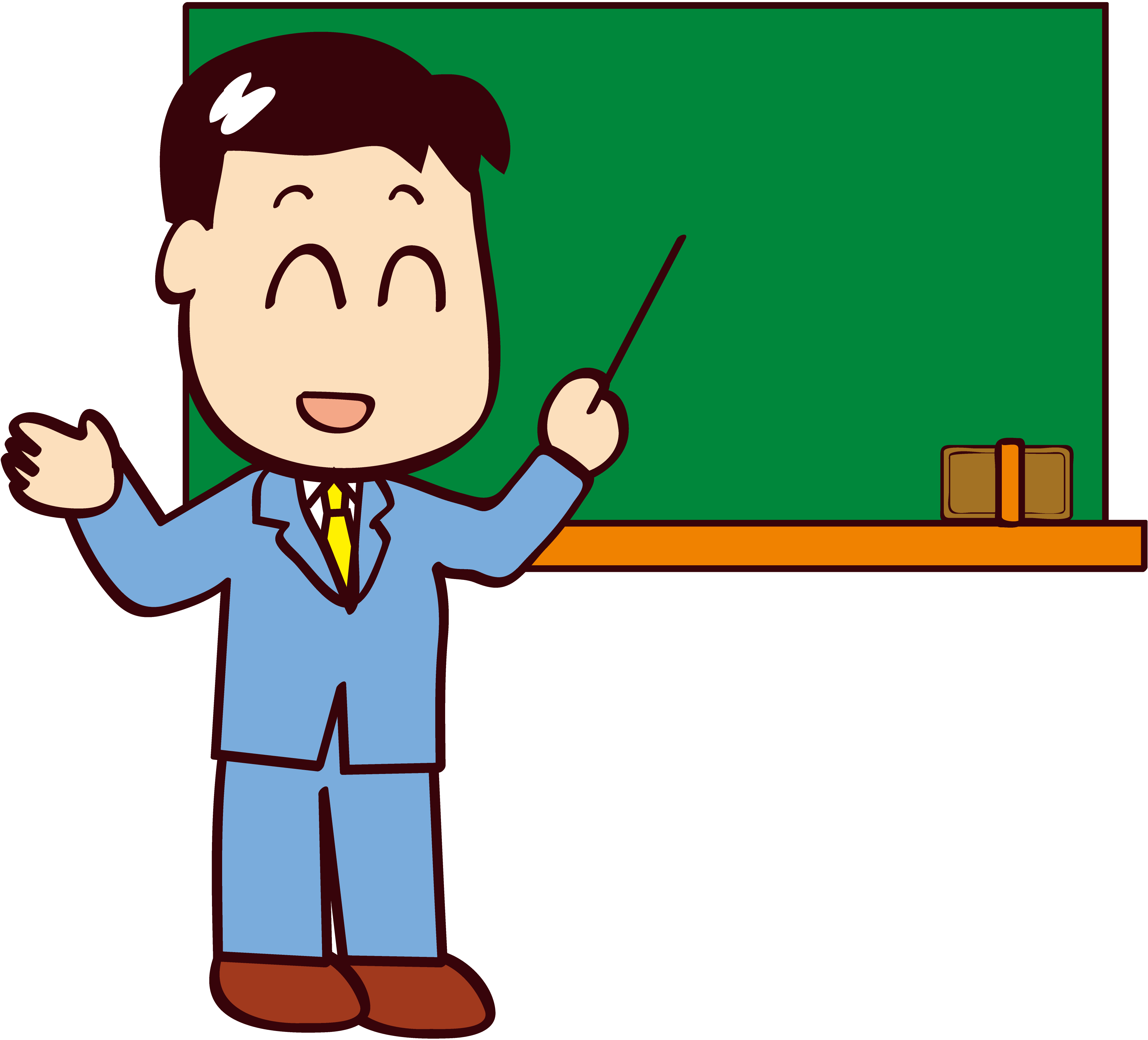 Professor PNG, Professor Desenho Colorido - Green PNG